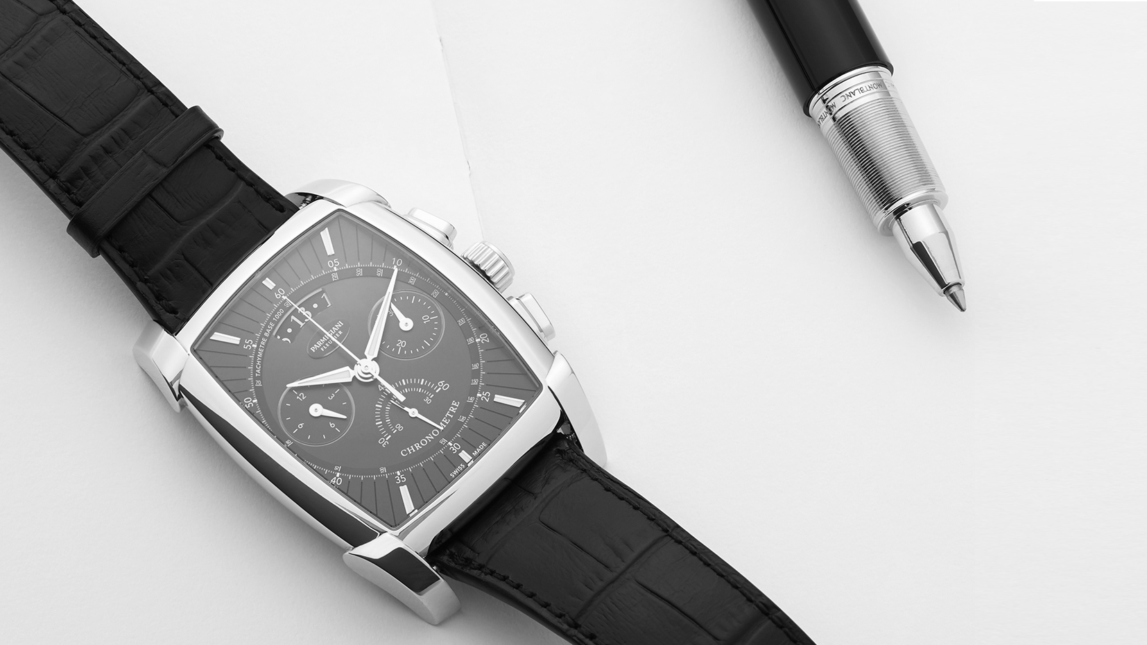 Image of a classic Parmigiani watch with highlight