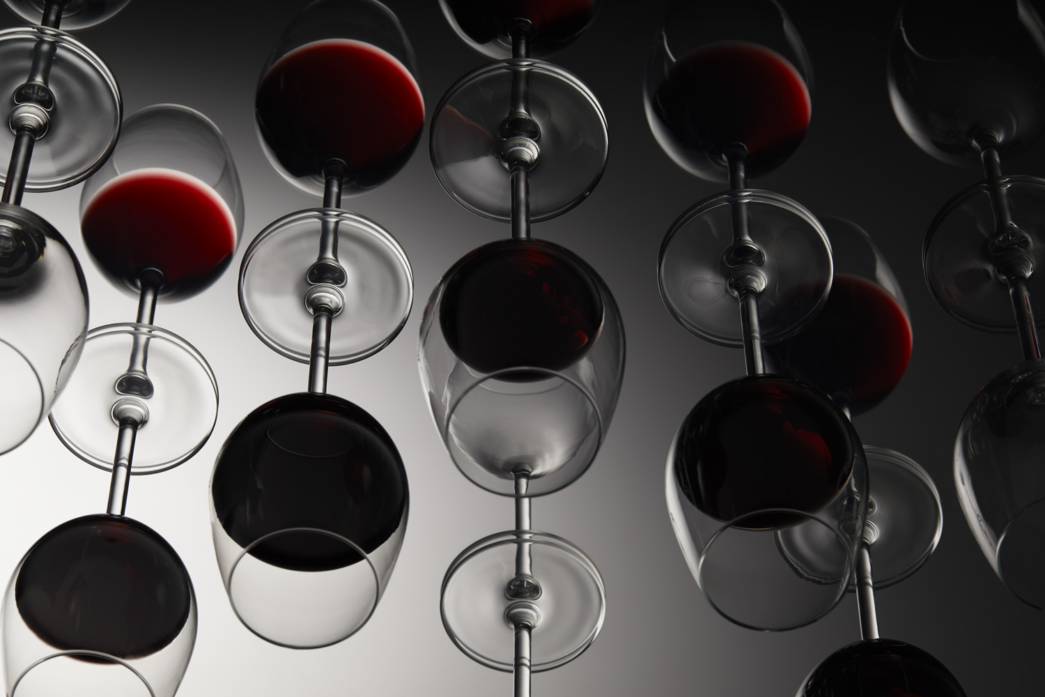 Still Life picture of wine inside glasses with great lighting